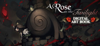 A Rose in the Twilight - Digital Art Book Header